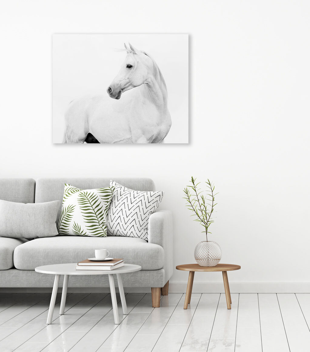 Canvas Print - Horse Side View - 100x80