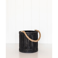 Lantern - Long Island Lattice Sml - Black - 20x21