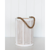 Lantern - Long Island Lattice Lrg - White - 20x29