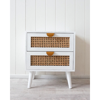 Bedside Table - Kasani - White - 40x30x47