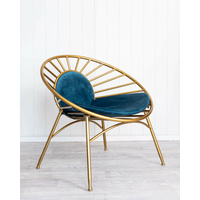 Velvet Chair - Apollo - Blue - 73x51x73
