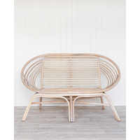 Chair Double - Eden - White Wash Rattan