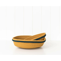 Basket Set - Koi - Mustard/Blue - Cotton Rope Set 2 - 28/22