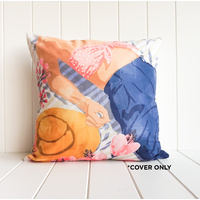 Indoor Cushion COVER - Summer Picnic Figure - 45x45