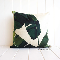 Indoor Cushion COVER - Summer Banana Leaves A - 45x45