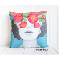 Indoor Cushion COVER - Face Cushion Rose Coloured Glasses - 45x45