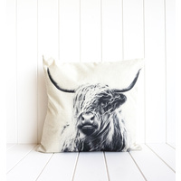 Indoor Cushion - Bovine Monochrome Solo - 45x45