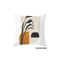 Indoor Cushion COVER - Stem Leaf Abstract - 45x45