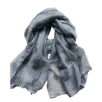 Scarf - Forest Adventure - Grey - 100x180cm