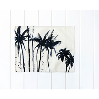 Placemat - Linen Look - Beach Boardwalk Palms - 42x33cm (MIN 4)