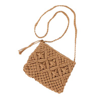 Bag - Astrid Shoulder Strap Woven - Natural - 25x20