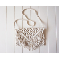 Bag - Livia Woven Tassel Shoulder Strap - Natural Light - 35x25