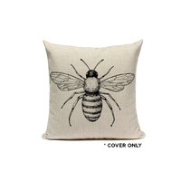 Indoor Cushion COVER - Bee Mono - 45x45