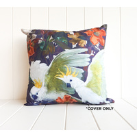 Indoor Cushion COVER - Cockatoo Pair A - 45x45