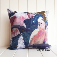 Indoor Cushion COVER - Pink Cockatoo - 45x45