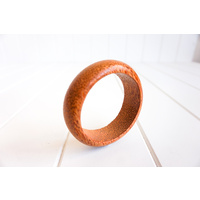 Bangle Domed Wide Timber - 10x2.7cm - (Min 4)