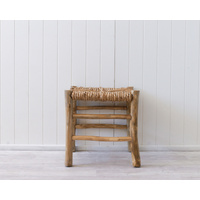 Stool - Lyre - Rattan Natural - 45x45x45