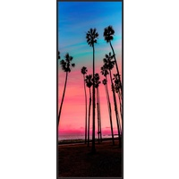 Floating Frame - Pink Palm Sunset - 60x160