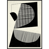 Premium Edition - Monochrome Abstract Shapes - 102 x 142