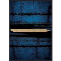Premium Edition - Abstract Gold on Navy - 102 x 142