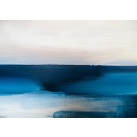 Canvas Print - Blue Horizon Abstract - 70x50