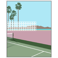 Floating Frame - Modernist Architecture Tennis Day's - 80x100