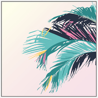Floating Frame - Pop Culture Palms B - 100x100
