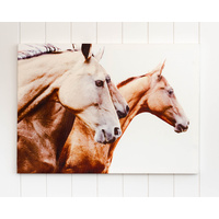 Canvas Print - Galloping Ahead Horses White - 70x50