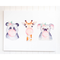 Canvas Print - Sunday Jnr. - Bubble Gum Trio - 90x70