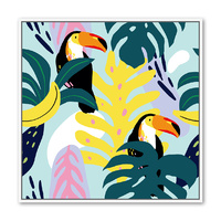 Floating Frame - Toucan Pair Collage - 100x100