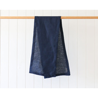Linen Table Runner - Navy - 28x126