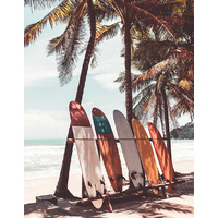 Canvas Print - Beach Board Break  - 90x70