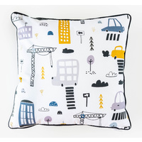 Cotton Cushion - Jnr - Construction Zone - 45x45