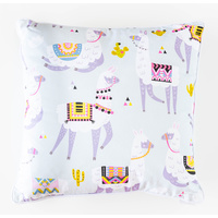 Cotton Cushion - Jnr - Llama Dance Off - 45x45