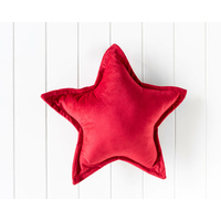 Velvet Cushion - Nova Star - Red - 45cm (MIN 2)