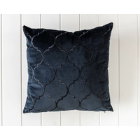 Velvet Cushion - Alexander - Black - 45x45
