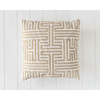 Indoor Cushion - Geometric Gold Embroidered - 45x45