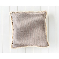 Indoor Cushion - Holiday Home Stripe - Brown - 45x45