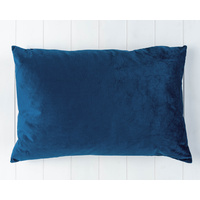 Indoor Cushion - Feather Insert - Navy Velvet - 60x40