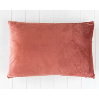 Indoor Cushion - Feather Insert - Dusty Rose Velvet - 60x40