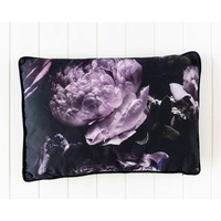 Indoor Cushion - Purple Midnight Bloom - Cotton/Velvet - 60X40