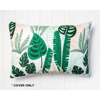 Indoor Cushion COVER - Jungle Forrest Pink Light Green - Cotton - 60x40