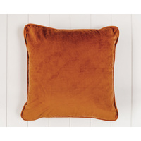Indoor Cushion - Feather Insert - Rust Velvet - 45x45