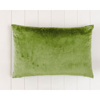 Indoor Cushion - Feather Insert - Olive Green Velvet - 60x40