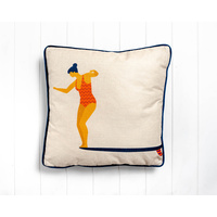 Indoor Cushion - Take the Leap - Linen Look - 45x45
