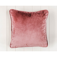 Indoor Cushion - Feather Insert - Dusty Rose Velvet - 45x45
