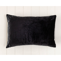 Indoor Cushion - Feather Insert - Black Velvet - 60x40