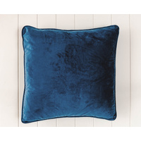 Indoor Cushion - Feather Insert - Navy Velvet - 50x50