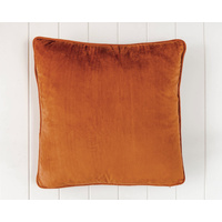Indoor Cushion - Feather Insert - Rust Velvet - 50x50