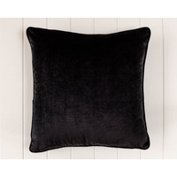 Indoor Cushion - Feather Insert - Black Velvet - 50x50